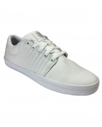 K-Swiss Men's Backspin Canvas Shoes Trainers White/Gull | Jean Scene