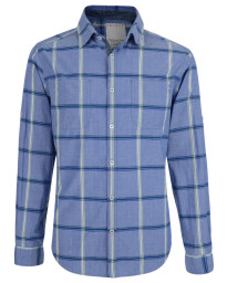 Esprit Regular Fit Long Sleeve Check Shirt Bright Royal