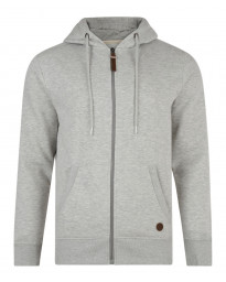 Smith & Jones Kent Full Zip Hoodie Grey Marl