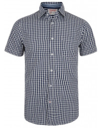Esprit Slim Fit Short Sleeve Check Shirt Moonlight Blue