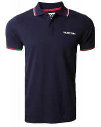 Nickelson Men's Old Street Polo Shirt Peacoat Blue