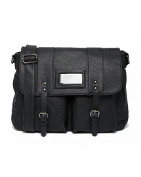 French Connection Messenger Bag Shoulder Strap Laptop Sleeve Black