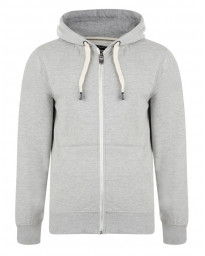 Smith & Jones Dursley Full Zip Hoodie Light Grey Marl