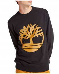 Timberland Big Tree Sweatshirt Long Sleeve Black/Wheat | Jean Scene