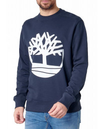 Timberland Big Tree  Logo Sweatshirt Long Sleeve Dark Sapphire | Jean Scene