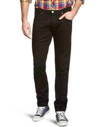 Lee Luke Slim Tapered Clean Black Denim Jeans Image
