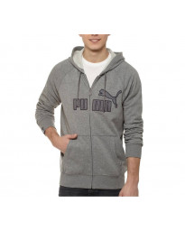 Puma Big Cat Zip Up Hooded Top Grey Image