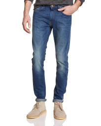 Lee Luke Slim Tapered Day Used Blue Denim Jeans Image