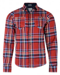 Lee Cooper Long Sleeve Check Shirt Red Image