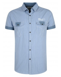 Smith & Jones Thornbury Stripe Shirt Short Sleeve Illusion Blue Image