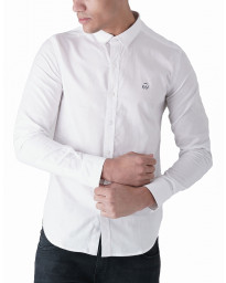 Duck and Cover Slim Birch Long Sleeve Shirt White | Jean Scene