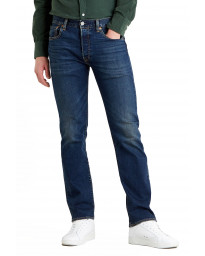 Levis 501 Denim Jeans Block Crusher Blue | Jean Scene
