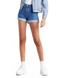 Levi's 501 Rolled Denim Shorts Sansome Ransom | Jean Scene