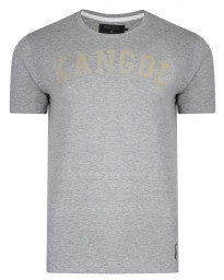 Kangol Study Crew Neck Cotton Plain T-shirt Grey Marl | Jean Scene