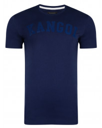 Kangol Study Crew Neck Cotton Plain T-shirt Navy | Jean Scene