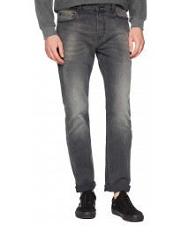 Lee Rider Regular Slim Black Worn Denim Jeans | Jean Scene