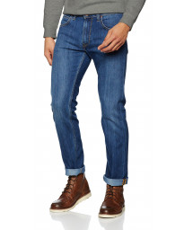 Lee Daren Zip Regular Slim True Blue Blue Denim Jeans | Jean Scene