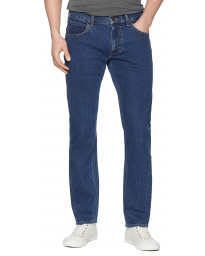 Lee Daren Zip Regular Slim Dark Stone Blue Denim Jeans | Jean Scene