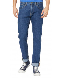 Lee Daren Zip Regular Slim Mid Stonewash Blue Denim Jeans | Jean Scene