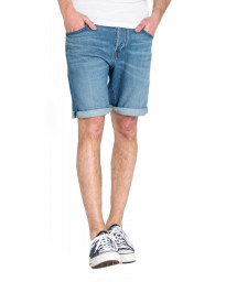 Lee 5 Pocket Denim Shorts Dark Blue Flick Mid | Jean Scene