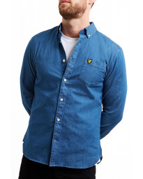 Lyle & Scott Slim Denim Shirt Long Sleeve Light Indigo | Jean Scene
