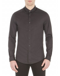 Ben Sherman Stretch Men's Long Sleeve Poplin Shirt True Black | Jean Scene