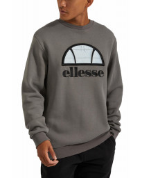 Ellesse Men's Manto Logo Crew Neck Sweatshirt Dark Grey | Jean Scene
