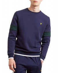 Lyle & Scott Crew Neck Men's Sweatshirt Navy | Jean Scene