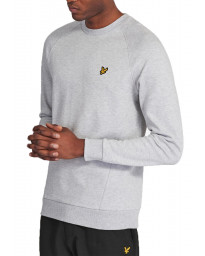 Lyle & Scott Pique Sweatshirt Light Grey Marl | Jean Scene