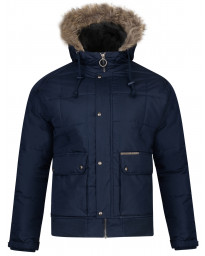 Ringspun Winter Padded Jacket Navy | Jean Scene
