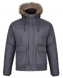 Ringspun Winter Padded Jacket Charcoal | Jean Scene