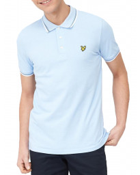 Lyle & Scott Polo Pique Shirt Pool Blue/White | Jean Scene