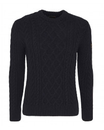 Superdry Jacob Cable Crew Neck Jumper Basalt | Jean Scene
