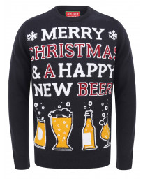 Christmas Jumper Crew Neck Happy New Beer Ink | Jean Scene