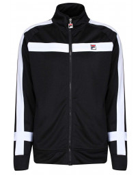 Fila Men's Renzo Block Track Jacket Black/White | Jean Scene