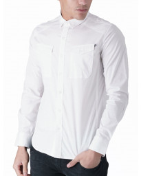 Duck and Cover Slim Reynold Long Sleeve Shirt White | Jean Scene