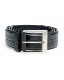 Duke Kingsize Bonded Basic Leather Belt Black | Jean Scene