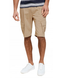 Threadbare Chino Cargo Bermuda Shorts Tan | Jean Scene