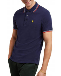 Lyle & Scott Polo Pique Shirt Navy/Gala Red | Jean Scene
