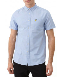 Lyle & Scott Oxford Plain Shirt Short Sleeve Riviera | Jean Scene