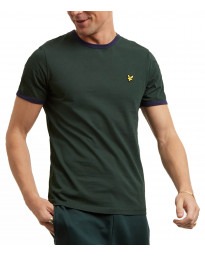Lyle & Scott Crew Neck Short Sleeve T-Shirt Jade Green/Navy | Jean Scene