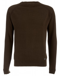 Threadbare Crew Neck Cotton Knit Jumper Sage Green | Jean Scene
