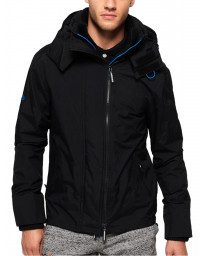 Superdry Tech Hooded Pop Zip Jacket Black/Super Denby | Jean Scene