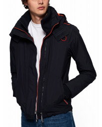 Superdry Arctic Hooded Pop Zip Jacket Petrol/Acid Orange | Jean Scene