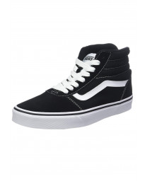 Vans Men's Ward Hi Suede Canvas Shoes Black | Jean Scene
