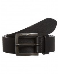 Wrangler Kabel Buckle Metal Loop Leather Belt Black | Jean Scene