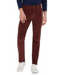 Wrangler Arizona Stretch Corduroy Jeans Red Mahogany | Jean Scene