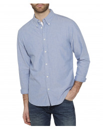 Wrangler Casual Men's Long Sleeve Oxford Shirt Surf The Blue | Jean Scene