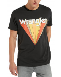 Wrangler Festival Crew Neck Graphic Logo T-shirt Faded Black | Jean Scene