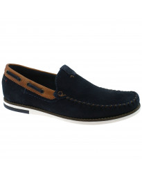 Wrangler Mens Low Sharky Suede Slip On Boat Shoes Navy Shoes | Jean Scene